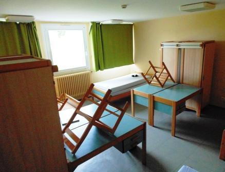 Le mobilier du dortoir vert